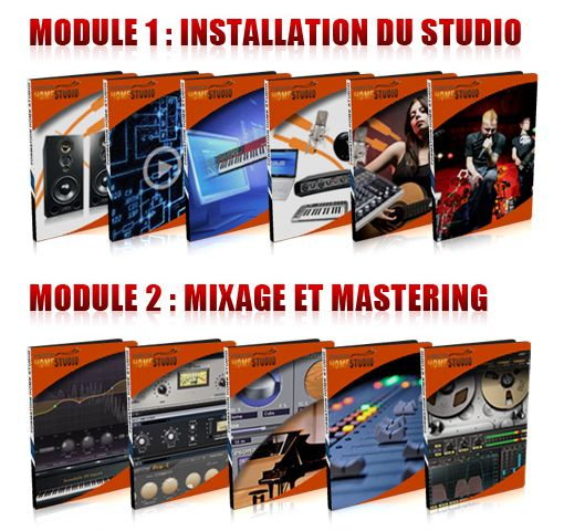 Pack 11 Cours Formation Home Studio (réduction 40%)